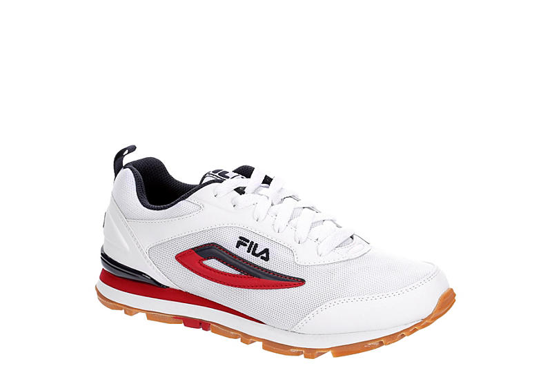 WHITE FILA Womens Steamrunner Sneaker