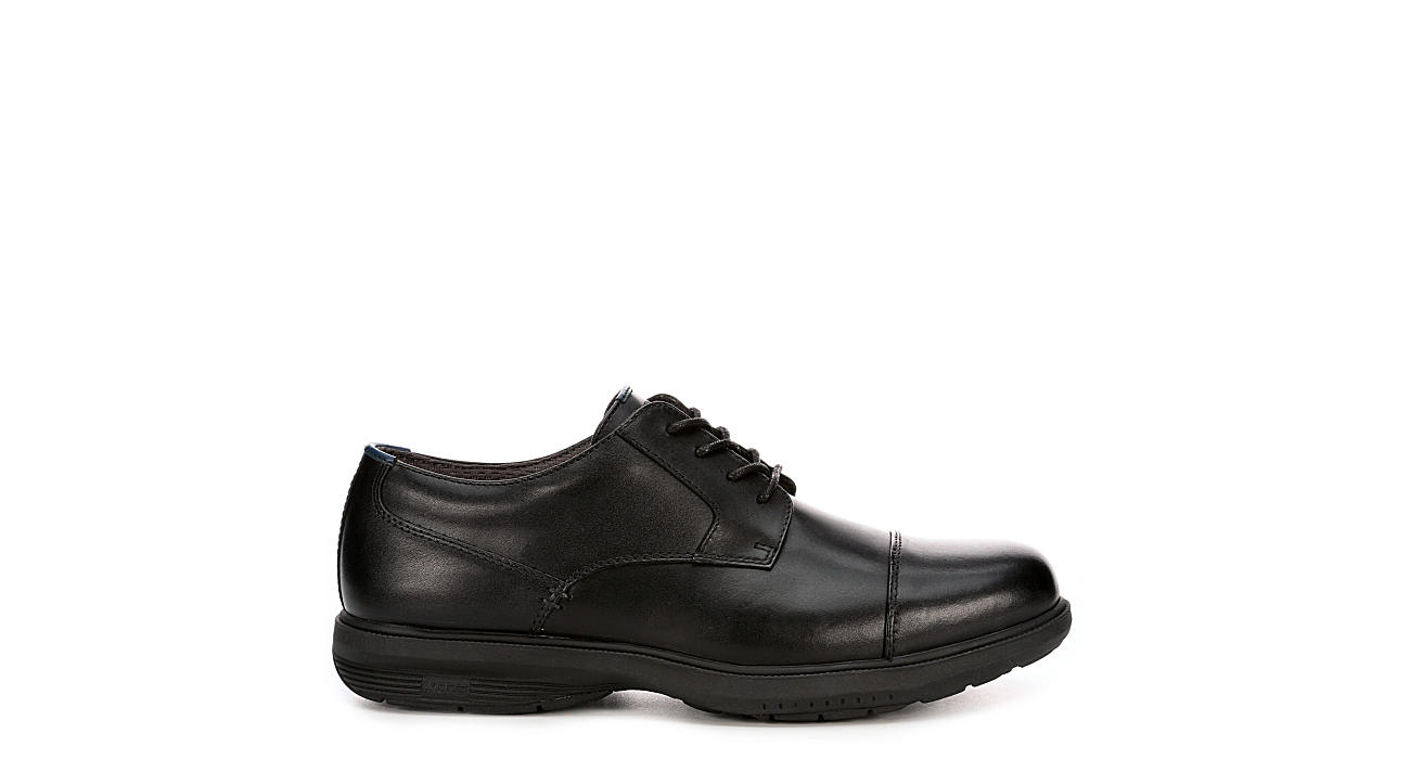 NUNN BUSH Mens Melvin Street Slip Resistant Cap Toe Oxford - BLACK