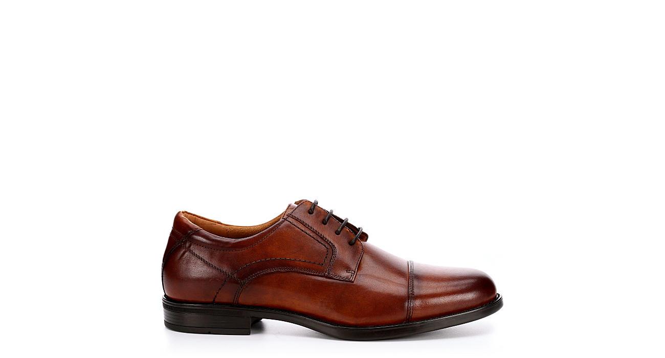 FLORSHEIM Mens Midtown Cap Toe Dress Oxford - COGNAC