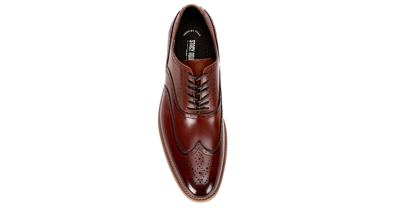 STACY ADAMS Mens Dunbar - COGNAC