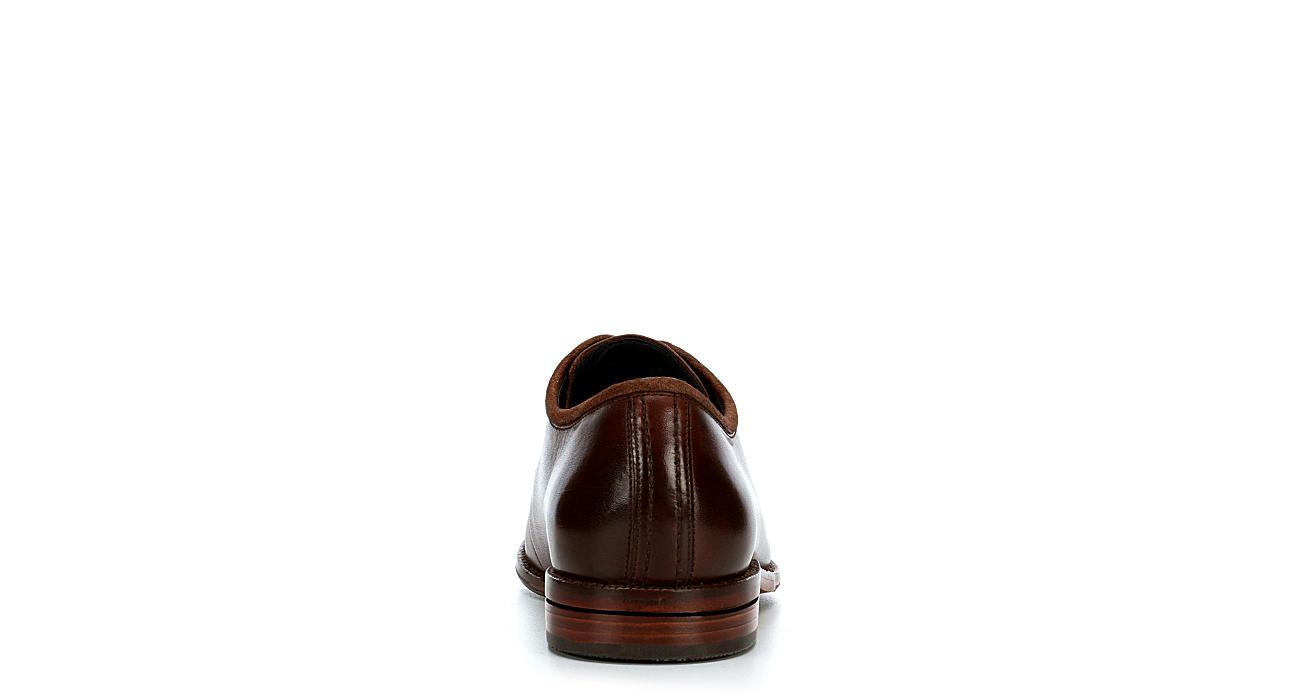COLE HAAN Mens Warner Grand Postman Plain Toe Oxford - TAN