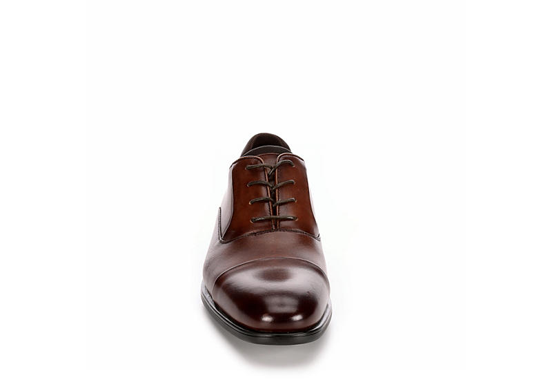 KENNETH COLE REACTION Mens Design 2129512 Cap Toe Oxford - COGNAC