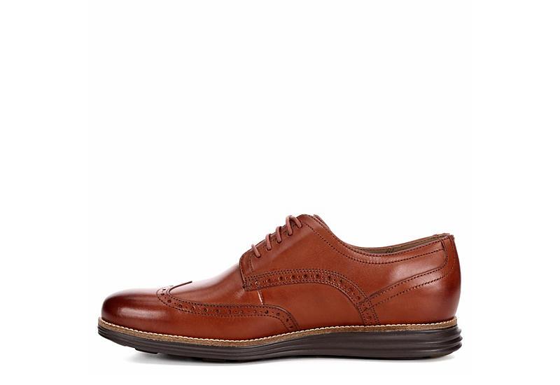 COLE HAAN Mens Oriignal Grand Shortwing Dress Casual Oxford - TAN