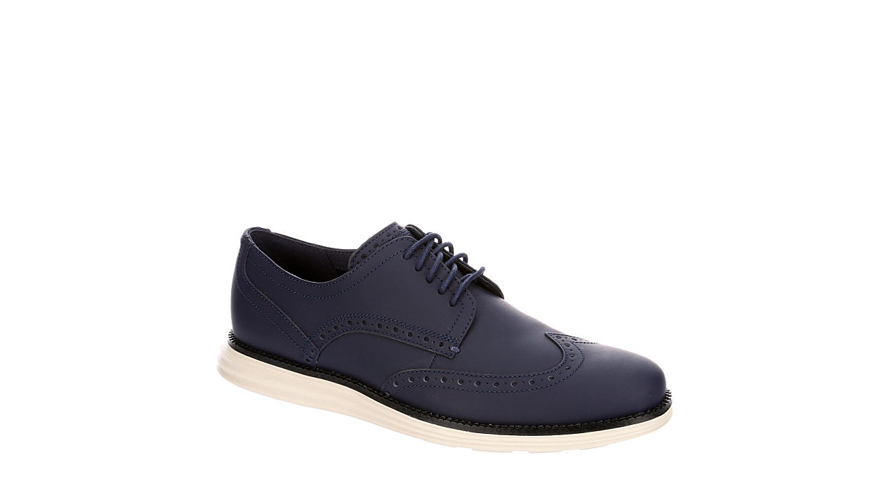COLE HAAN Mens Oriignal Grand Shortwing Dress Casual Oxford - NAVY