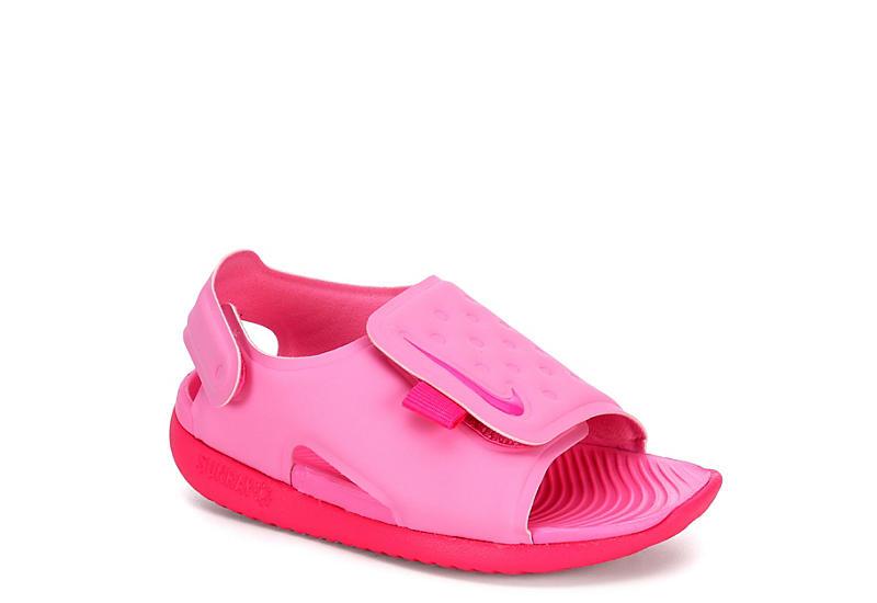 PINK NIKE Girls Infant Sunray Adjust 5 Velcro Sandal