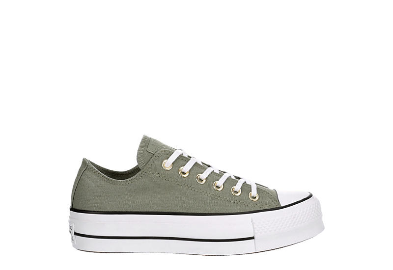 CONVERSE Womens Chuck Taylor All Star Low Lift Sneaker - GREEN