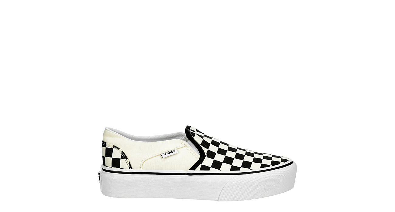 VANS Womens Asher Slip On Platform Sneaker - OFF WHITE