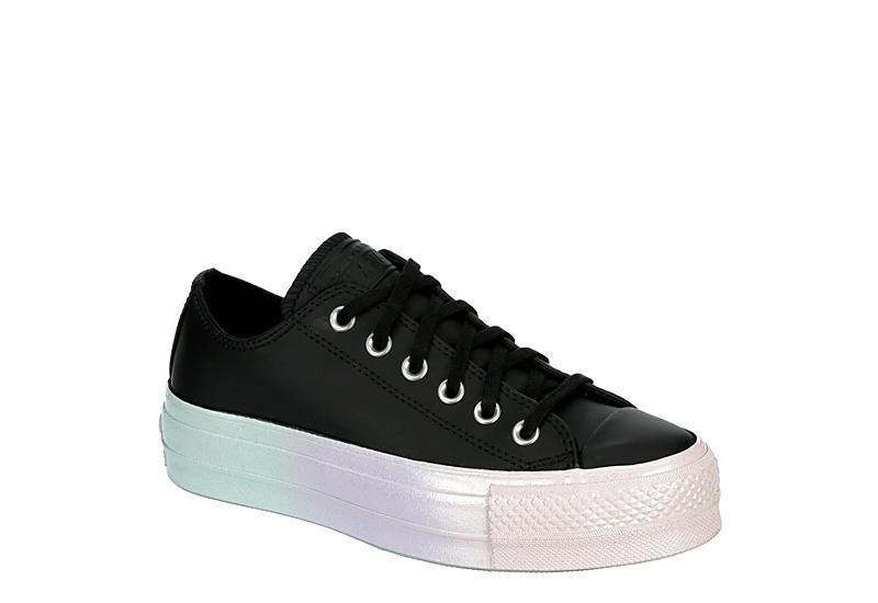 CONVERSE Womens Chuck Taylor All Star Low Lift Sneaker - BLACK