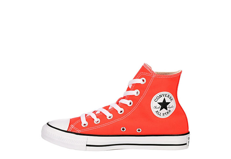 CONVERSE Womens Chuck Taylor All Star High Top Sneaker - ORANGE