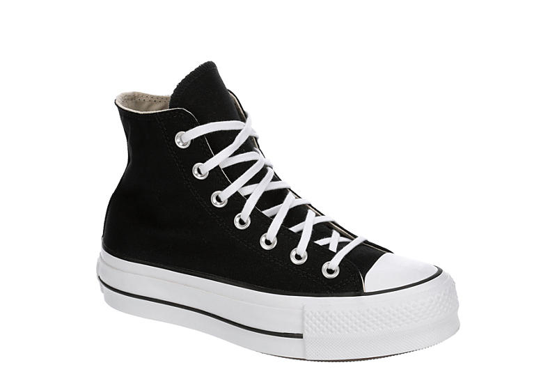 BLACK CONVERSE Womens Chuck Taylor All Star High Top Lift Sneaker