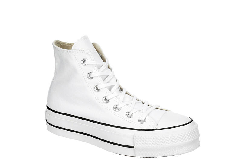WHITE CONVERSE Womens Chuck Taylor All Star High Top Lift Sneaker