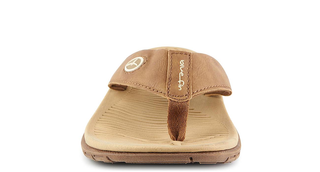 BLUEFIN Mens Super Flex Flip Flop Sandal - TAN