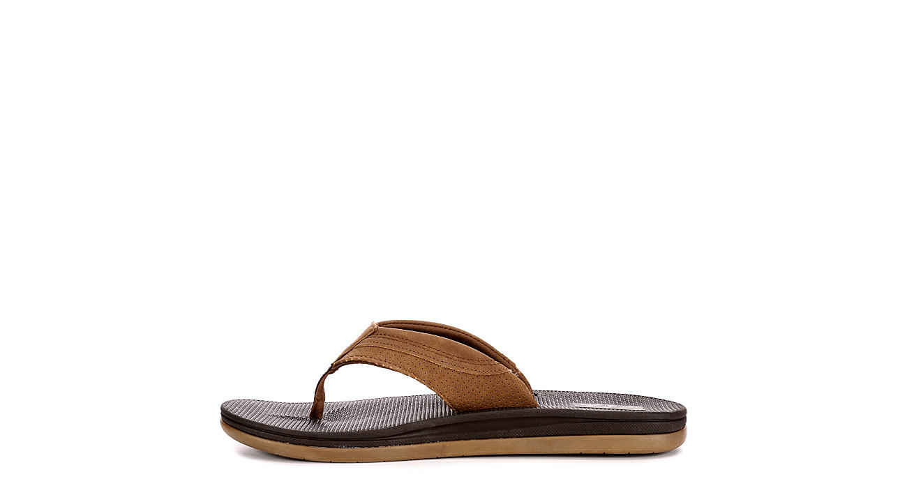 BLUEFIN Mens North Shore Flip Flop Sandal - TAN