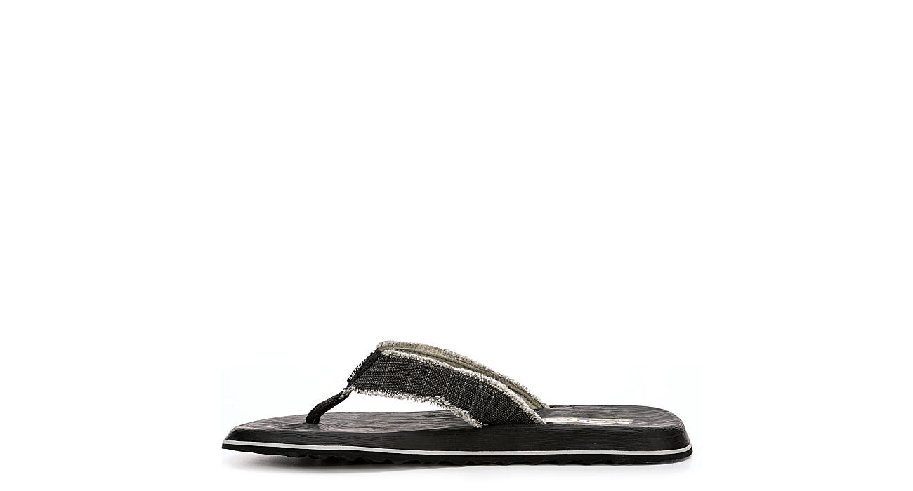 SKECHERS Mens Tantric-salman Relaxed Fit Thong Sandal - BLACK
