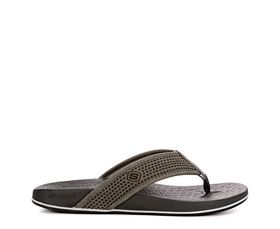 Mens Pelem-emiro Relaxed Fit Memory Foam Thong Sandal