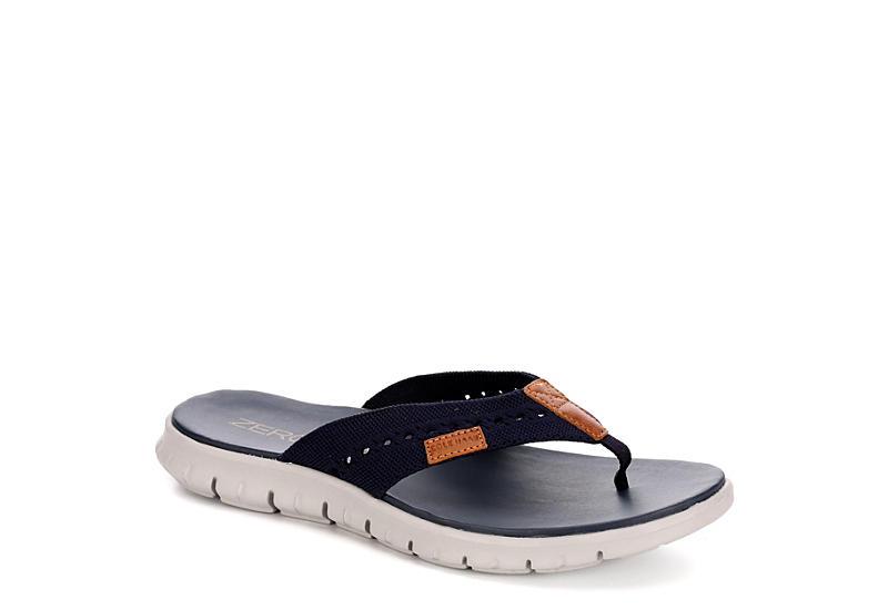 6f6160869a03 Cole Haan Mens Zerogrand Stitchlite Flip Flop Sandal - Navy