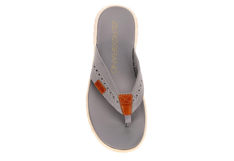 COLE HAAN Mens Zerogrand Stitchlite Flip Flop Sandal - PALE GREY