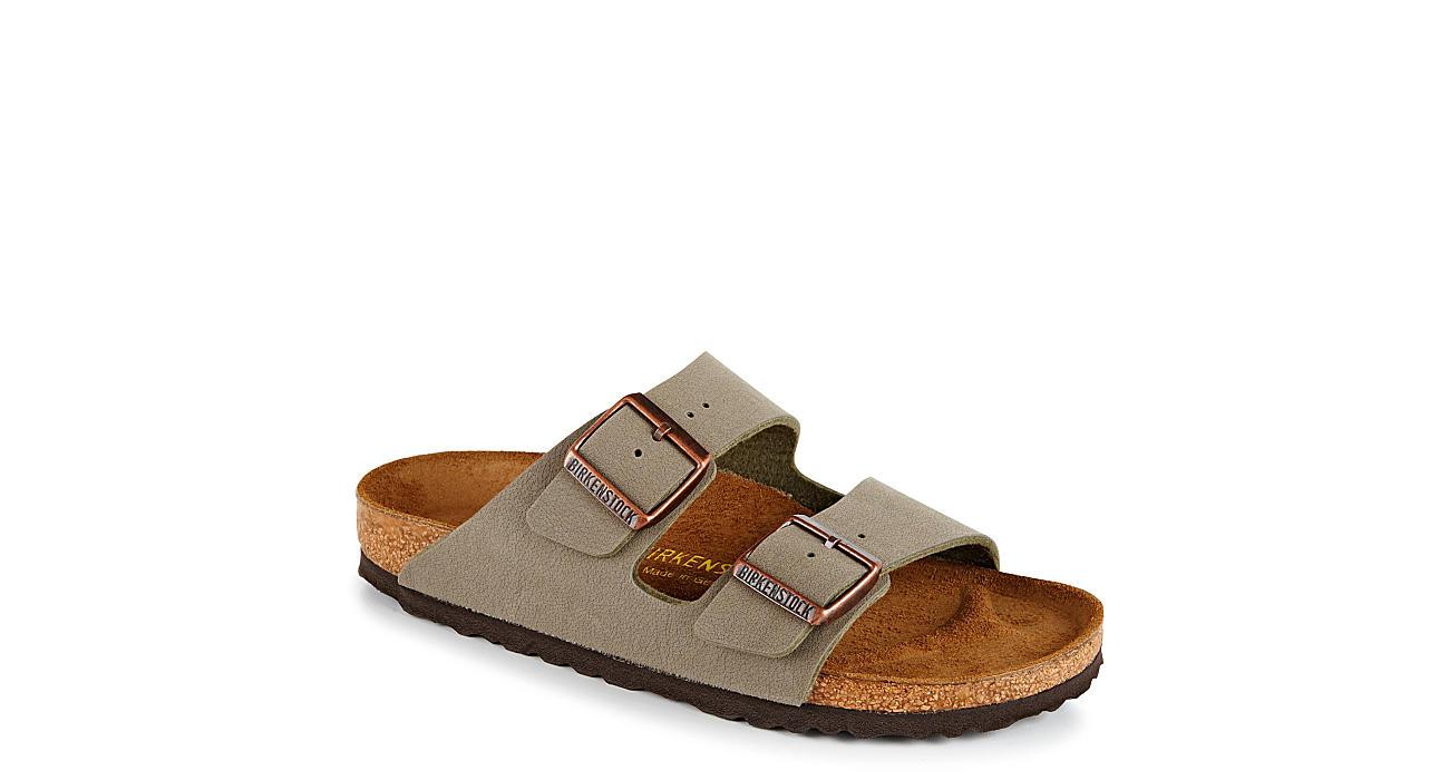 BIRKENSTOCK Mens Arizona 2 Strap Slide Sandal - STONE