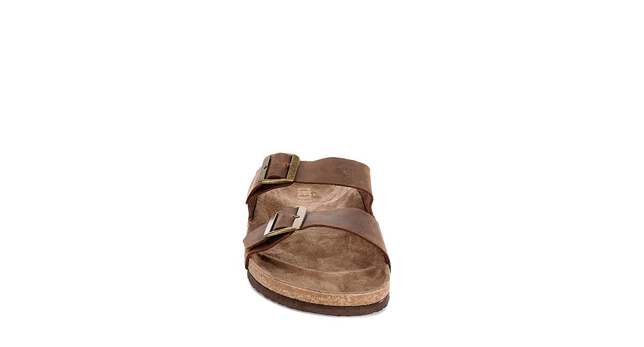 CREVO Mens Sedono 2 Strap Slide Sandal - BROWN