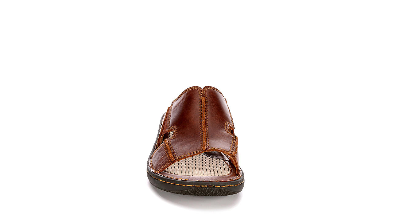 BORN Mens Robert Slide Sandal - BROWN