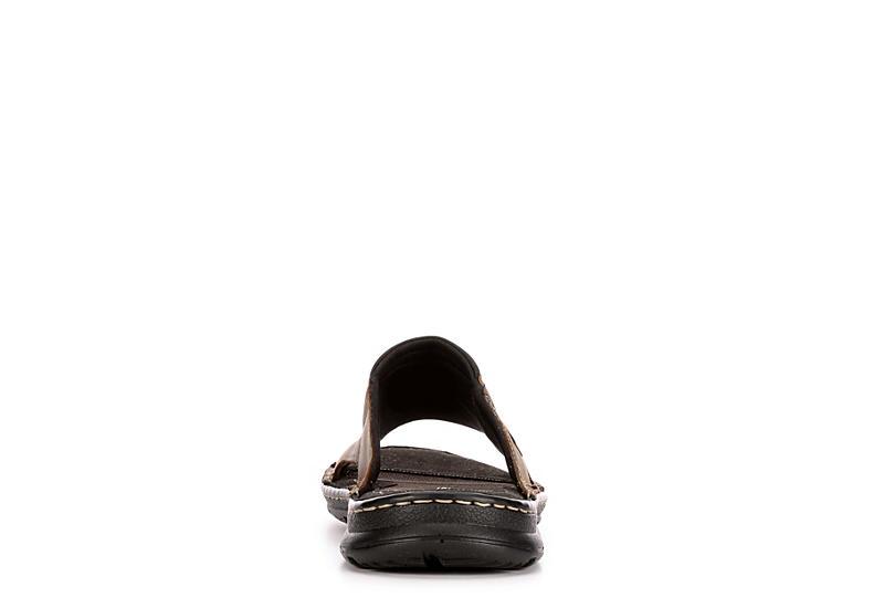 ROCKPORT Mens Darwyn Ii Casual Slide Sandal - DARK BROWN