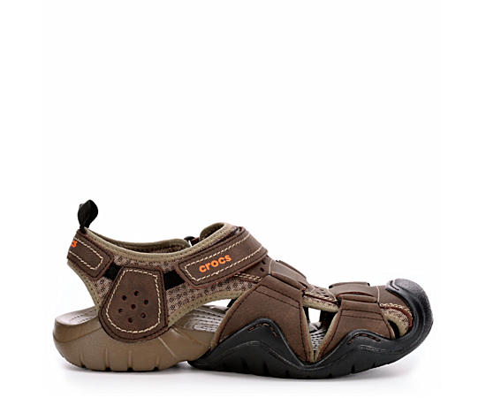 Mens Swiftwarer Leather Fisherman Sandal