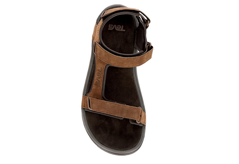 TEVA Mens Marston Leather Sport Sandal - BROWN
