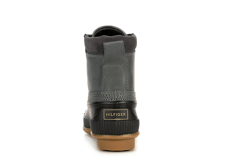 TOMMY HILFIGER Mens Casey Waterproof Insulated Duck Boot - GREY