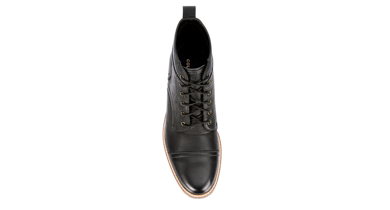 COLE HAAN Mens Nathan Cap Toe Casual Boot - BLACK