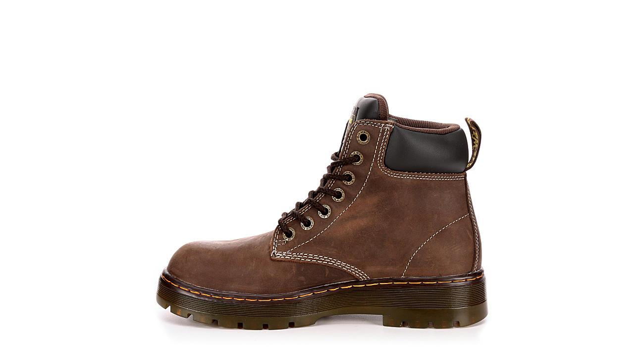 DR.MARTENS Mens Winch Work Safety Boot - DARK BROWN