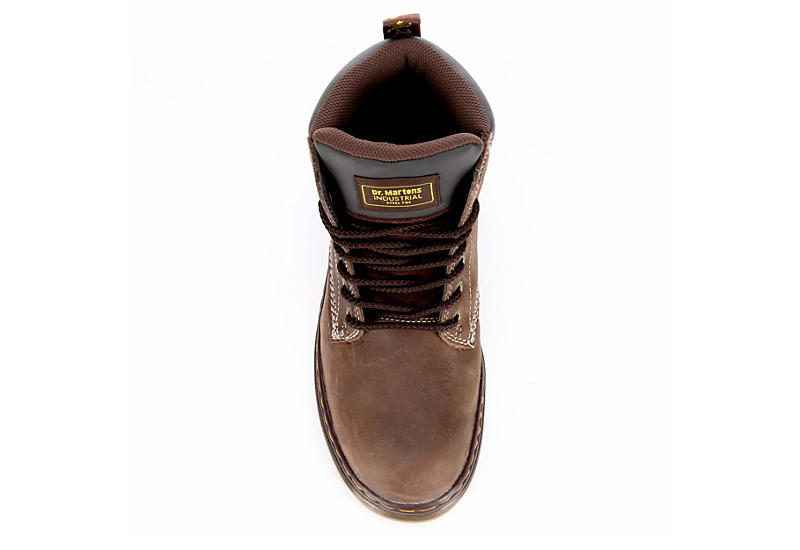 DR.MARTENS Mens Winch Steel Toe Work Boot - DARK BROWN