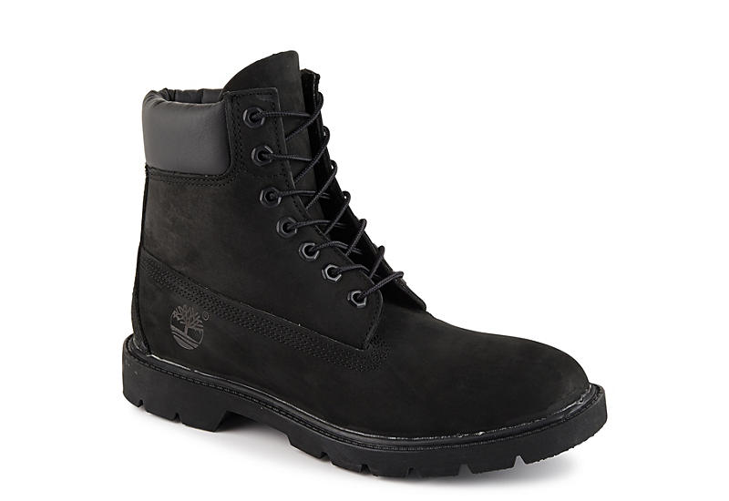 BLACK TIMBERLAND Mens 6 Inch Basic