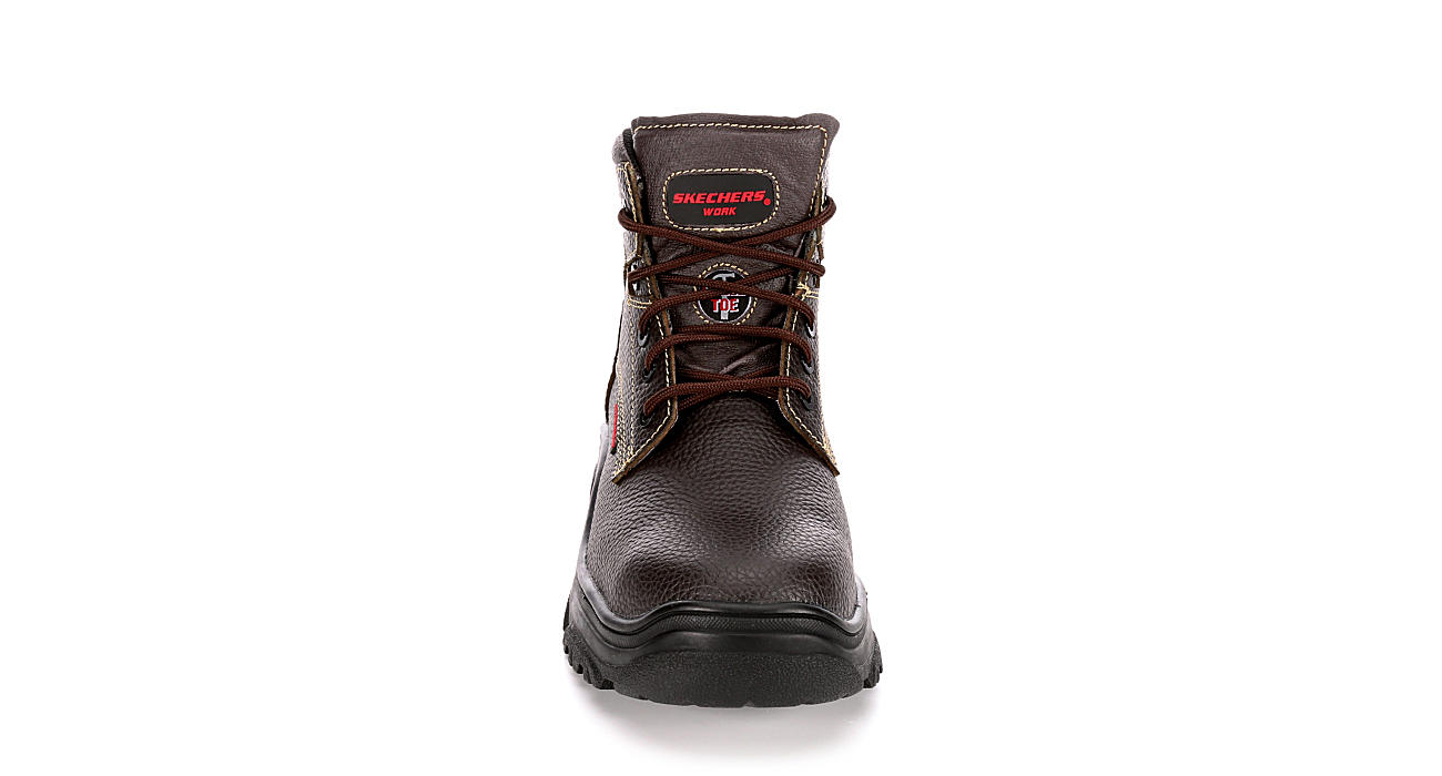 SKECHERS Mens Tarlac Work Safety Boot - BROWN