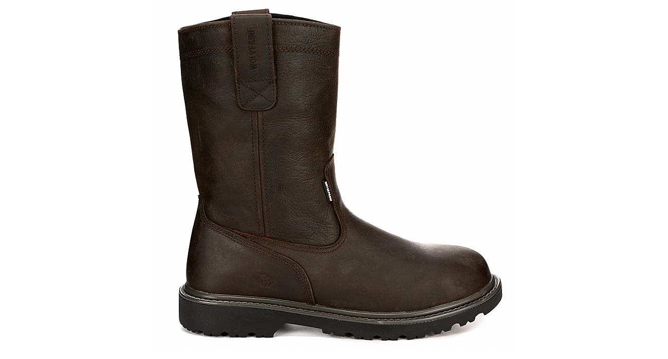 WOLVERINE Mens Floor Hand Work Safety Boot - DARK BROWN