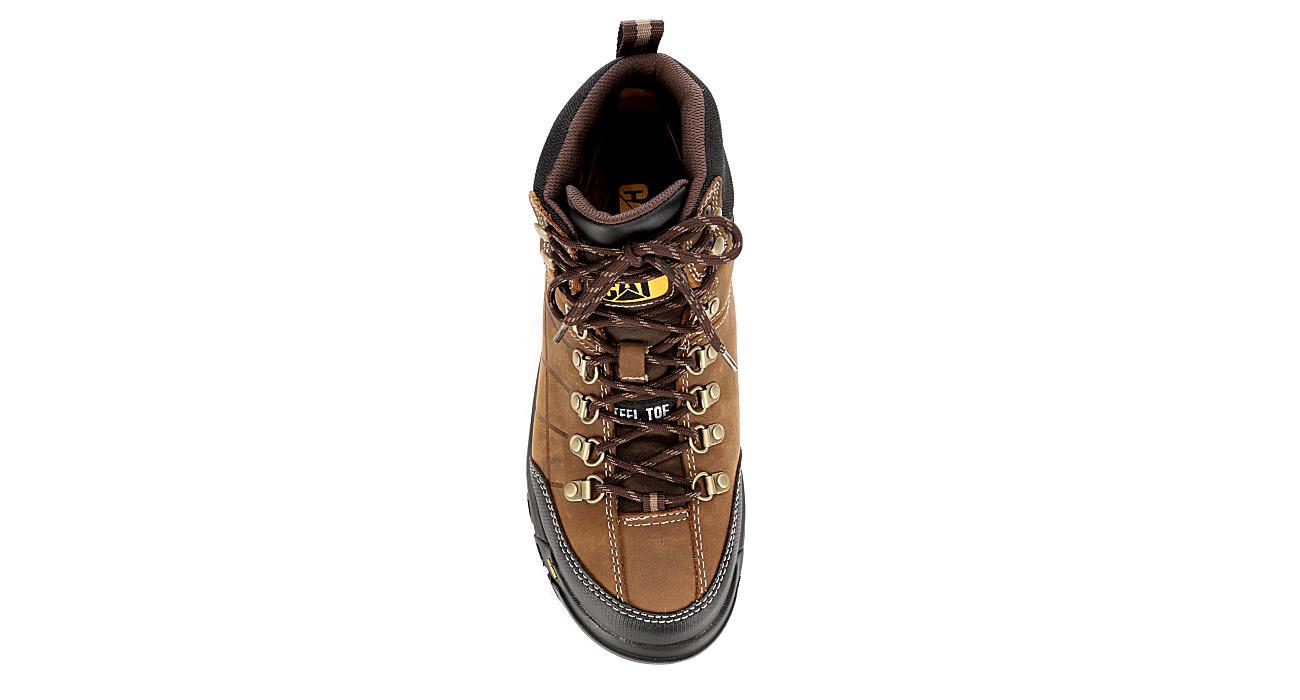 CATERPILLAR Mens Threshold Waterproof Steel Toe Work Boot - BROWN