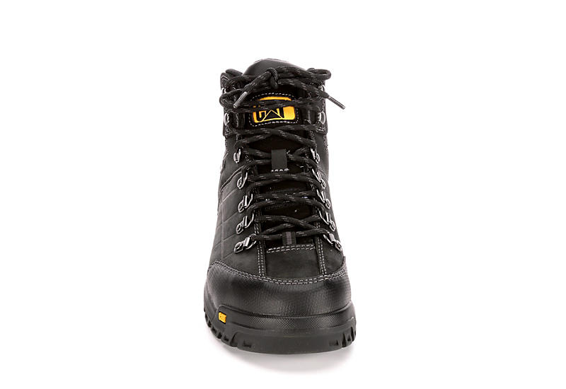CATERPILLAR Mens Threshold Waterproof Steel Toe Work Boot - BLACK