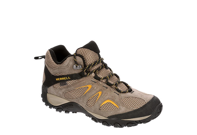 MERRELL Mens Yokota 2 Mid Waterproof Hiking Boot - TAUPE