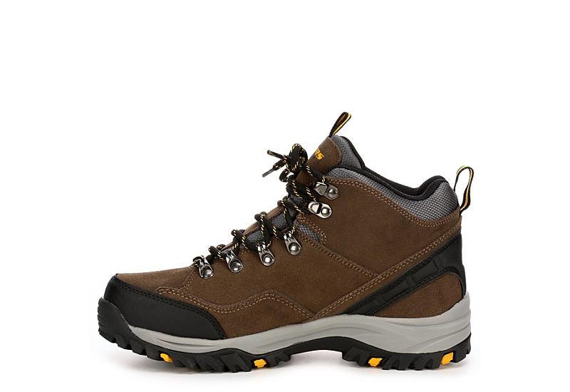 SKECHERS Mens Relment Pelmo Relaxed Fit Memory Foam Hiking Boot - KHAKI