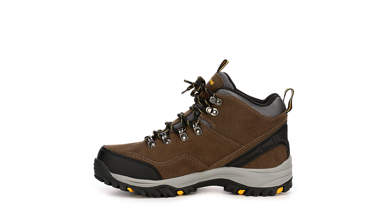 SKECHERS Mens Relment Pelmo Relaxed Fit Memory Foam Hiking Boot - KHAKI
