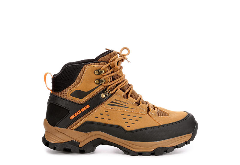 Skechers Mens Polano norwood Relaxed Fit Memory Foam Hiking Boot Camel