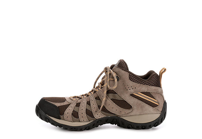 COLUMBIA Mens Redmond Mid Waterproof Hiking Boot - BROWN