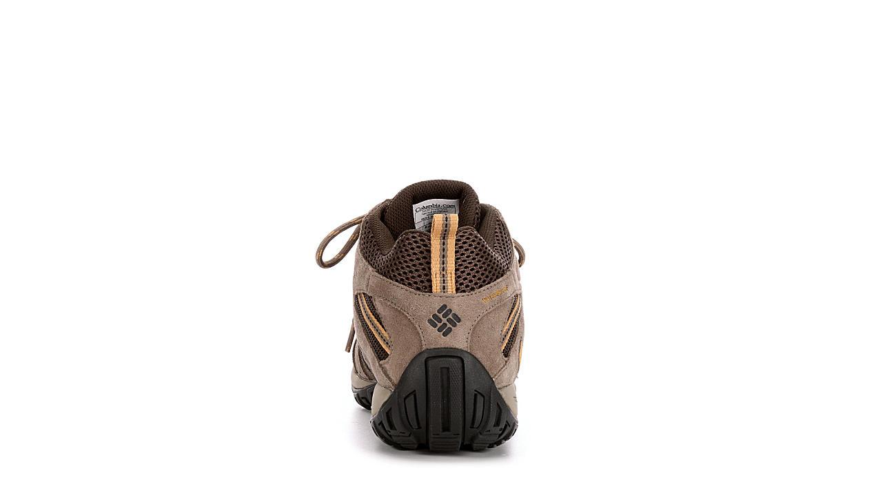 COLUMBIA Mens Redmond Mid Wtpf Hiking Shoe - BROWN