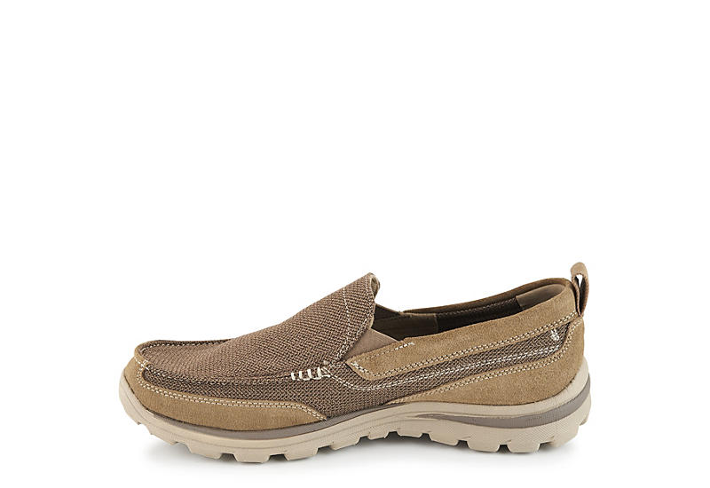 SKECHERS Mens Superior-milford Relaxed Fit Casual Loafer - DARK TAN