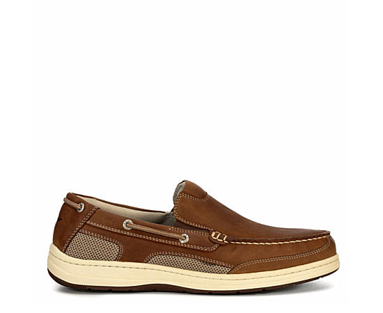Mens Tiller Water Resistant Slip On Boat Shoe