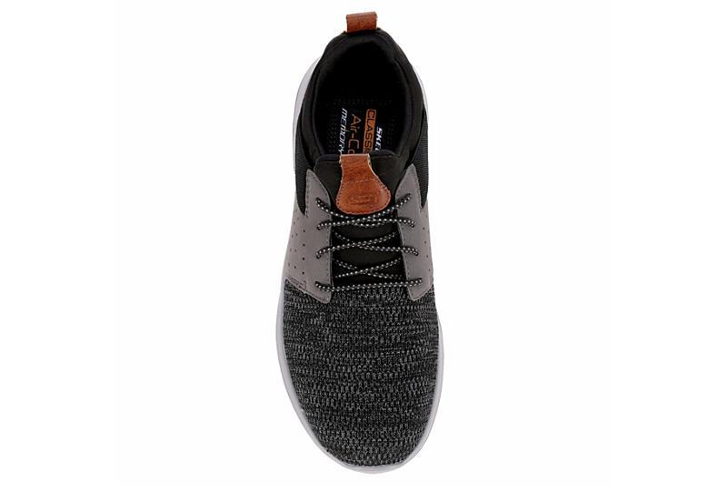 SKECHERS STREET MENS Mens Delson-camden Air Cooled Memory Foam Sneaker - BLACK