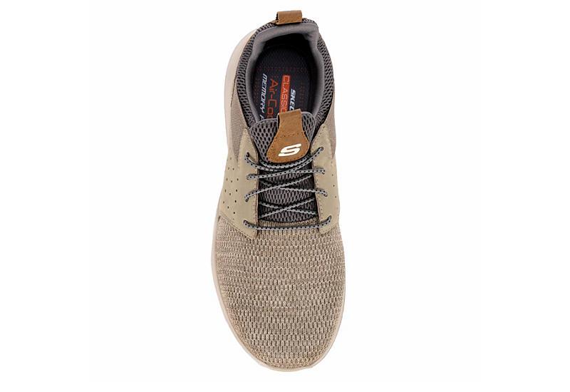 SKECHERS Mens Delson-camden Air Cooled Memory Foam Sneaker - TAUPE