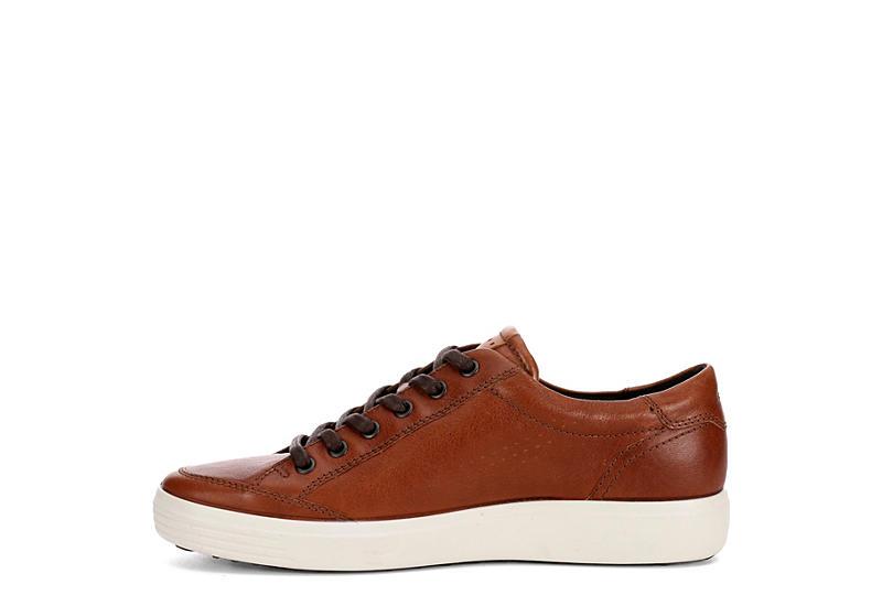 ECCO Mens Soft 7 Long Lace Sneaker - COGNAC