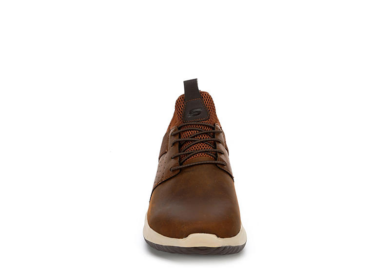 SKECHERS STREET MENS Mens Delson-axton Sneaker - BROWN