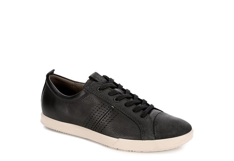2246ea87 BLACK ECCO Mens Collin 2.o Tren Leather Sneaker