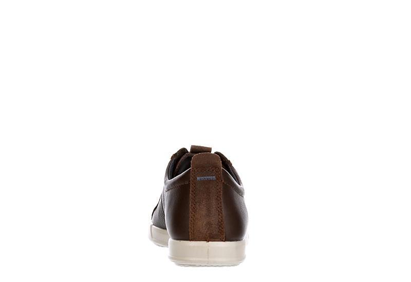 ECCO Mens Collin 2.o Tren Leather Sneaker - COFFEE